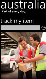 Australia Post Windows Phone app